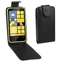 Mxnet Pure Color Vertical Flip Funda de Cuero para Nokia Lumia 620 Fundas