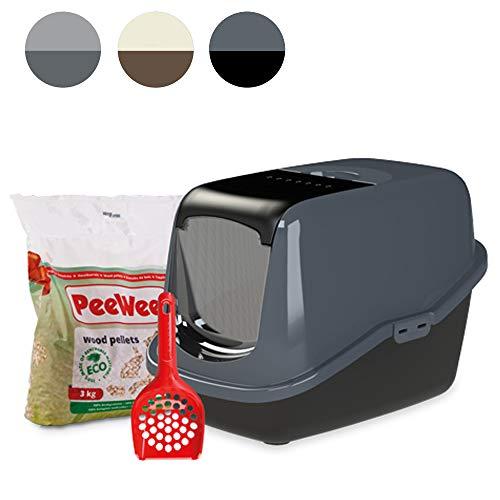 PeeWee EcoHus - Katzentoilette - Starter-Paket Schwarz