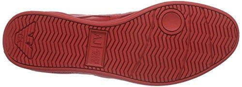 Armani Jeans06565YO - Scarpe stringate Uomo Rosso (Rot (ROSSO - RED 54))