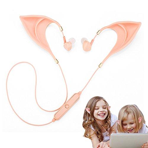 Fairy Kostüme Cute (Elf Bluetooth In-Ear Headset Cute in-Ear ultrasoftes Wireless-Kopfhörer Fairy 's Liebenswürdig, Cosplay Headset Ghost Kostüm Zubehör)