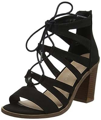 New Look Wide Foot Oliana, Sandales Bout Ouvert Femme, (Black 1), 36 EU