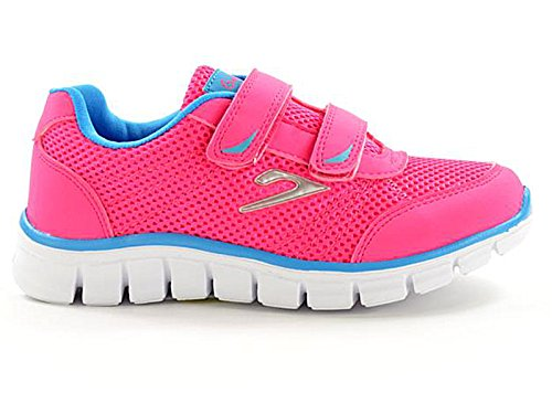 Kids 811201 Galop Mesh Touch Close Trainers Girls Boys Infant Casual Sports Shoes Size 10-2 (UK 1, Fuxia/Aqua)