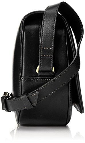 Royal RepubliQ Damen Raf Curve Handbag Schultertasche, 7x17,5x25,5 cm Schwarz (Black)