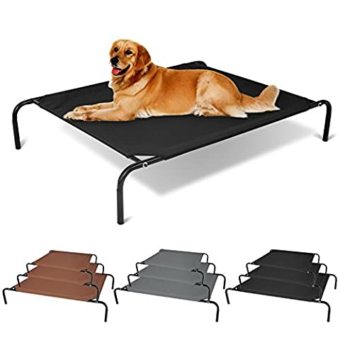 WOLTU® HT2083sz3 Dog Hammock Bed Pet Elevated Raised Cot Bed Dog Cat Puppy Pet Bed Dog Trampoline, Black