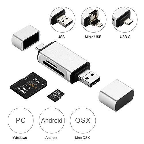 Moreslan Lector Tarjetas Memoria SD/Micro SD Tipo