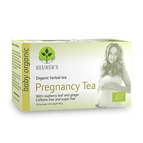 Neuener's Schwangerschaftstee Bio Pregnancy während der Schwangerschaft mit Himbeere & Ingwer 20 Teebeutel (1 Packung) -