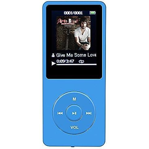 AGPtek A02 - Reproductor de MP3 (8 GB, pantalla de 1.8