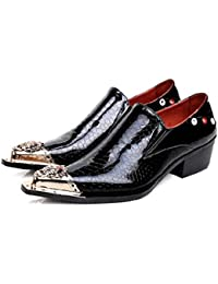 Mr.Zhang s Art Home Men s shoes Scarpe da Uomo Nere a Punta Alta Scarpe  Traspiranti f95031a6547