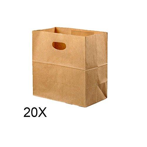 Kraftpapiertüte Hacken Tasche Snack Papiertüte braun Mittagessen Papiertüte - Tasche Mittagessen Braun
