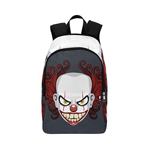Böser furchtsamer Clown Monster lässig Daypack Reisetasche College School Rucksack für Herren und Frauen