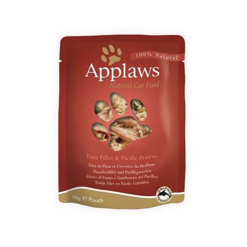 Applaws Katze Thunfisch und Pacific Garnelen , 12er Pack (12 x 70 g)