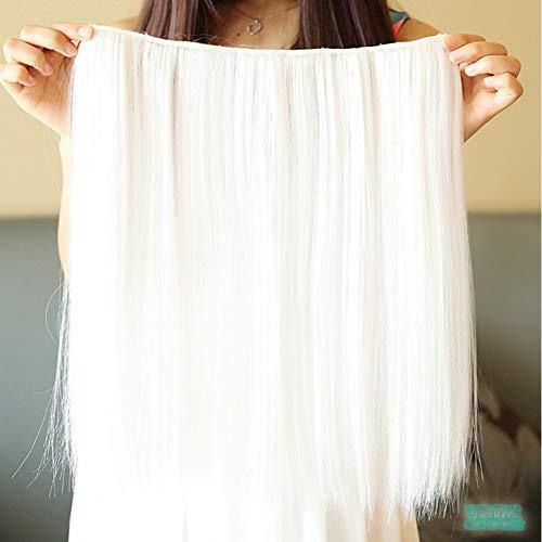 DDDMMM 42 cm Synthetische Rot Weiß Haar Gerade Clip In Haarverlängerungen Cosplay Haarteil Party Haar Für Frauen - Gerade Synthetische Clip