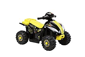 Brunte Battery operated Ride on Small ATV Hauler Yellow