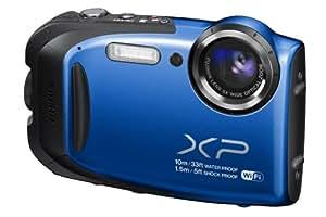 Fujifilm FinePix XP70 Kompaktkamera (Full HD, 16 Megapixel, 6,9 cm (2,7 Zoll) Display, 5-fach opt. Zoom, WiFi, wasserdicht (10m), stoßfest (1,5m), staubgeschützt) blau