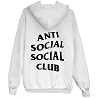 ANTI SOCIAL CLUB Hoodie Kapuzenpullover Sweater Bluse Pullover weiß AW