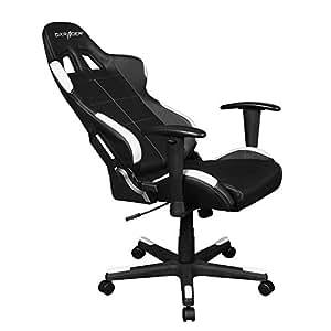 DXracer Oh/fd99/NW Sitz Gaming für Computer schwarz / weiß