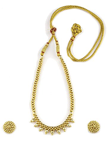 Womens Trendz Half Spiral Thushi 24K Gold Plated Alloy Necklace and Earring Set  available at amazon for Rs.500