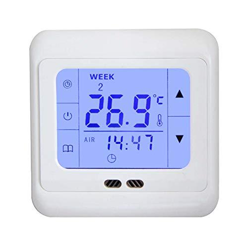 Digital Thermostat H3 + Touch-screen Unterputz mit Fühler für Fußbodenheizung -