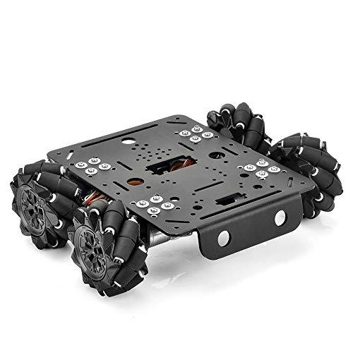4WD Mecanum Rad Roboter Auto Metall Roboter Platformen Chassis Encoder Motor für Arduino Raspberry Pi