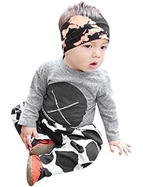 Omiky® 2pcs Kleinkind-Säuglingsbaby-Jungen-Druck-Kleidung stellte Tops + Pants Outfits ein