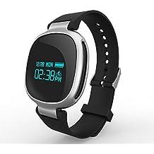 Pulsera actividad,Gps Rastreador de actividad Con En tiempo real Monitor de ritmo cardiaco & Monitor sueño Bluetooth Pulsera inteligente Impermeable Piscina Ciclismo Podómetro Calorías Distancia Inteligente Recordatorio Watch-B