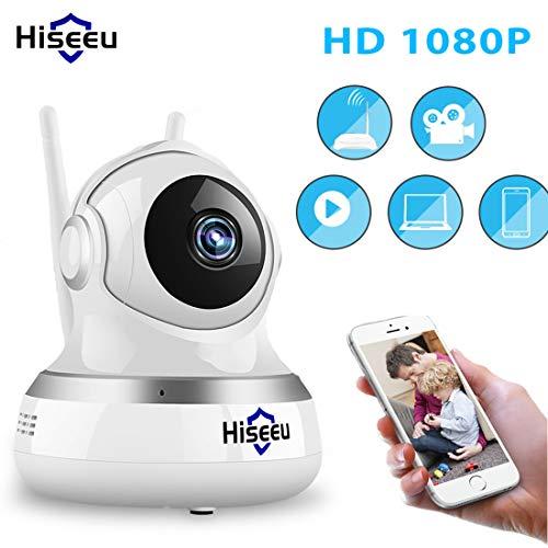 LLC - Hiseeu Startseite 1080P 2.0MP IP-Kamera, Drahtlose Überwachungskamera Pan/Tilt/Zoom WiFi Dome Kamera mit Nachtsicht, Zwei-Wege-Audio, Remote-Monitor für Baby Elder Pet Nanny