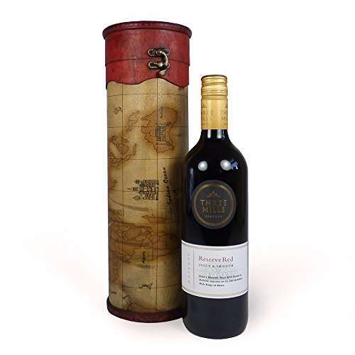 75cl-Three-Mills-Red-Wine-Presented-in-a-Charming-Map-Design-Wine-Carrier-Gift-ideas-for-Christmas-presents-Birthday-Corporate