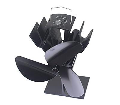 TOMERSUN 3 Blades Heat Powered Stove Fan for Wood/Log Burner/Fireplace