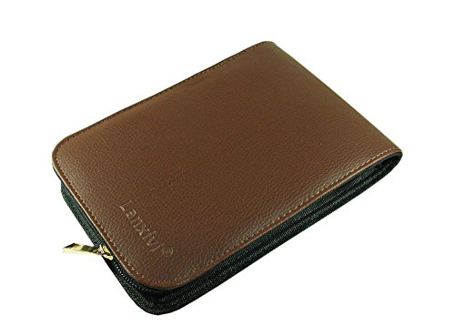 Pen PU Leather Case Binder for 12 Pens (Coffee) ()