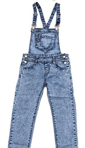 Tolle Jeans Latzhose für Mädchen in hell blau, Gr. 110/116, M08e