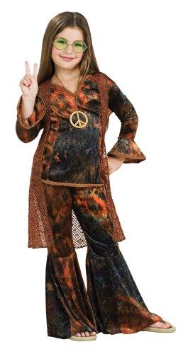 Kinder-Kostüm-Set Woodstock Diva, Größe 128/134