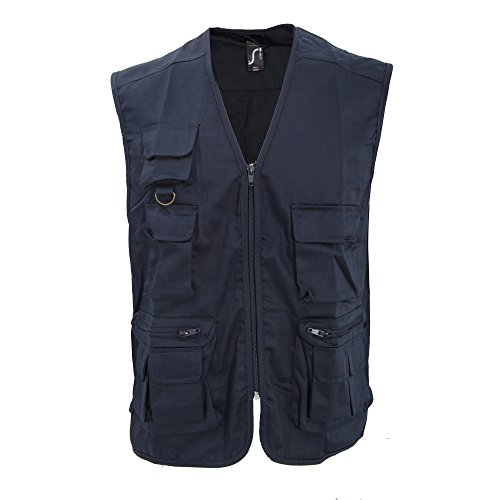 SOLS Wild Unisex Weste / Bodywarmer mit Reißverschluss und Taschen Marineblau