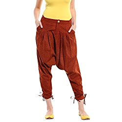 A Desi Weaves Quirky Rust Printed Jodhpuri Pant