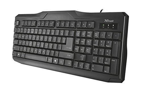 Trust ClassicLine Tastatur (spritzwassergeschützt, leiser Tastenanschlag, USB, QWERTZ, deutsches Tastaturlayout) schwarz - 2