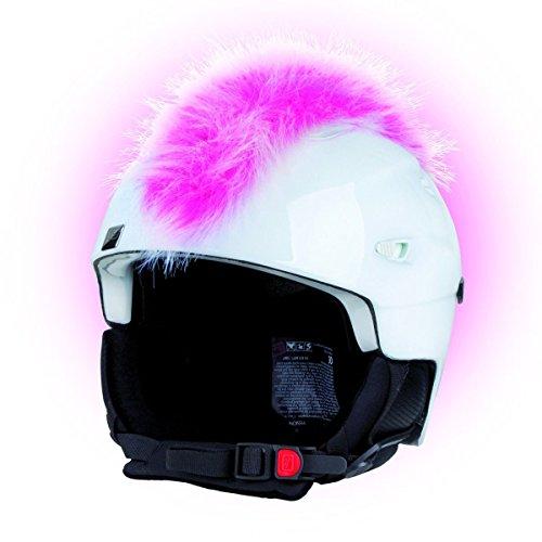 Crazy Ears Helm-Accessoires Irokese Mohawk Schwarz Weiß Pink Ski Snowboard, CrazyEars:Irokese Pink