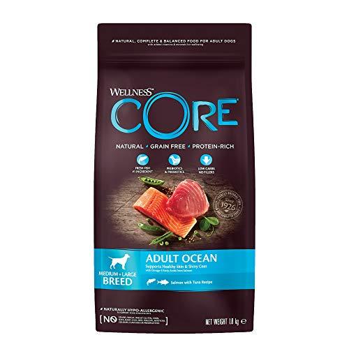 Wellness CORE Ocean / Hundefutter Trocken / Getreidefrei / Hoher Fleischanteil / Lachs mit Thunfisch, 1,8 kg