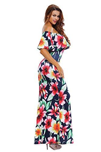 DOKOTOO Damen Kleid Color 5
