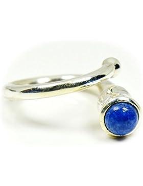 gemsonclick natur Lapis Lazuli Runde Form Ring 925Sterling Silber gocmsr-278