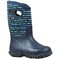 BOGS Boys York SPOT STR Blue Multi Insulated Warm Wellies Boot 78712 460-2 UK 35 EU