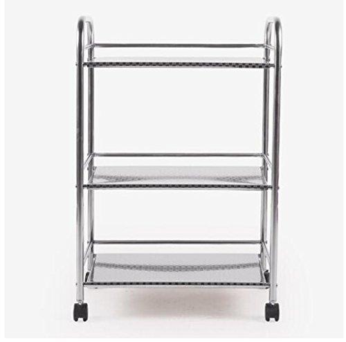 Preisvergleich Produktbild Küche Regal Mikrowelle Ofen Rack Edelstahl Mehrere Schichten Ofen Lagerung 34 * 50 * 76CM