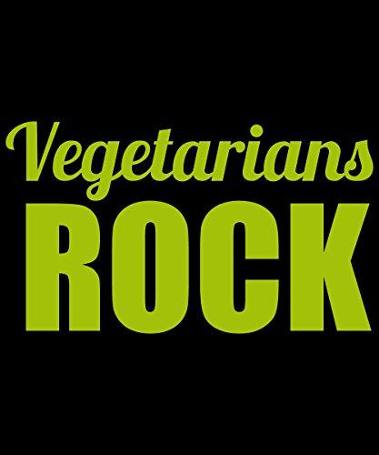 clothinx Einkaufstasche Vegetarians Rock Schwarz mit grünem Aufdruck