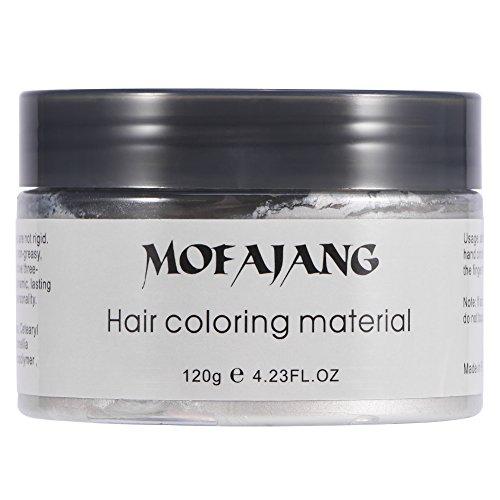 Filfeel Haarfarbe 120 ML Männer Frauen Einweg Haarfärbemittel Schlamm Friseur Creme Styling Wachs(Weiß)