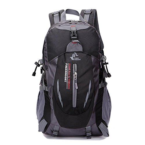 HWJDK Sport Rucksack Wandern Trekking Knapsack Camping Wasser & Tear Resistant Travel Pack Bergsteigen Klettertasche Black