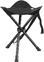 ENKEEO Sgabello da Campeggio Portatile Sedia Treppiede Pieghevole Ultra Leggero, capacità 90kg, 32 x 32 x 38 cm, Borsa...