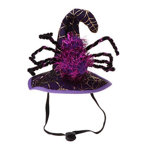Halloween Spider Hat Haustier Hund Katze Welpe Phantasie Cosplay Cap Kostüm Urlaub Bekleidung