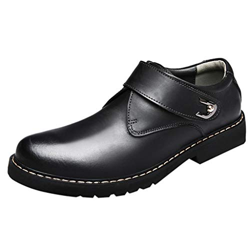 Manadlian Bottes Mode pour Hommes Chaussures à Talon Rond et Tête Ronde Bottes d'affaires en Cuir Boots