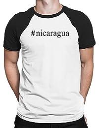 Teeburon Nicaragua Hashtag Camiseta Raglan