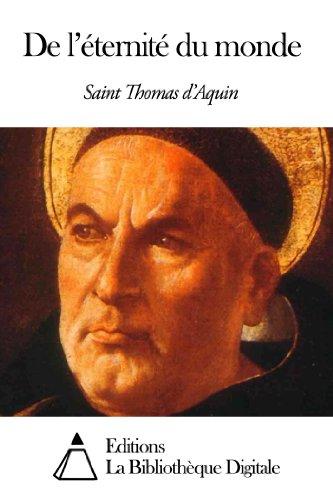De l'éternité du monde par Saint Thomas d'Aquin