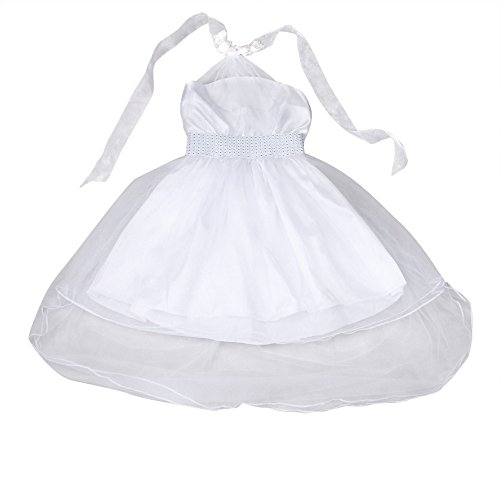 Walaka Bebe Filles Robe sans Manches Pleine Fleur de Dentelle Princesse Robes Fille 1-7 Ans