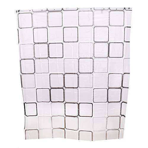 Monrocco Duschvorhang mit verstärkten Knopflöchern, für Badezimmer, Duschen, Stände und Badewannen, maschinenwaschbar, 150 x 183 cm, Blau/Weiß (Badezimmer-duschen-stände)